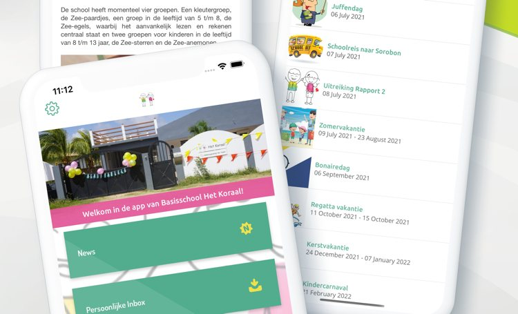 Basisschool Het Koraal komt met eigen school app