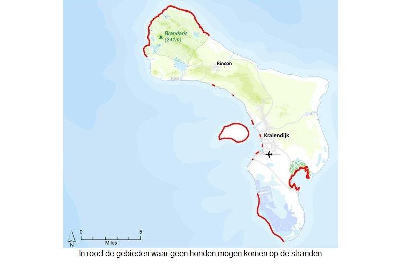 Hondenverbod op verschillende Bonairiaanse stranden