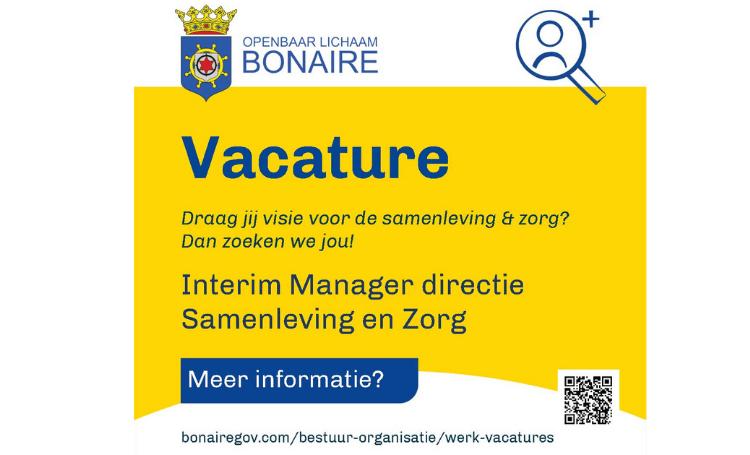 Vacature Interim Manager Directie Samenleving en Zorg