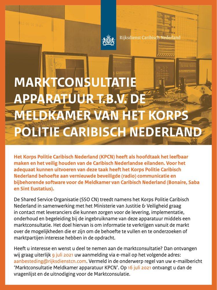 Marktconsultatie apparatuur t.b.v. meldkamer KPCN