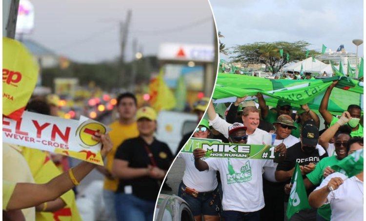 Aruba vandaag naar de stembus