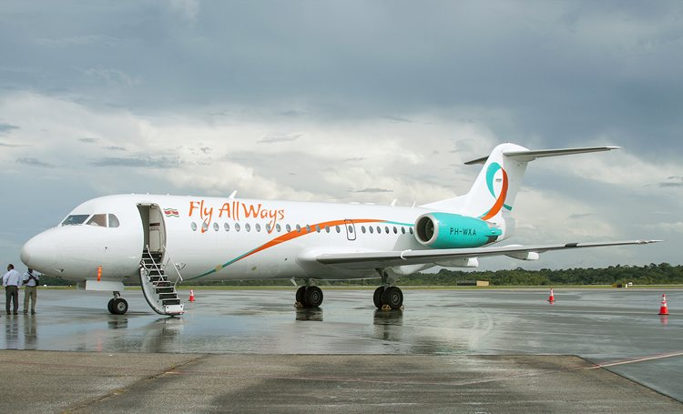 Fly Allways hervat vluchten Curaçao-Suriname