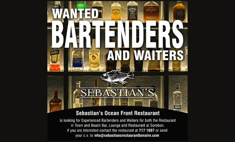 Vacancy Bartenders and Waiters Bonaire