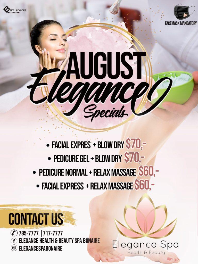Diverse specials in augustus bij Elegance Spa