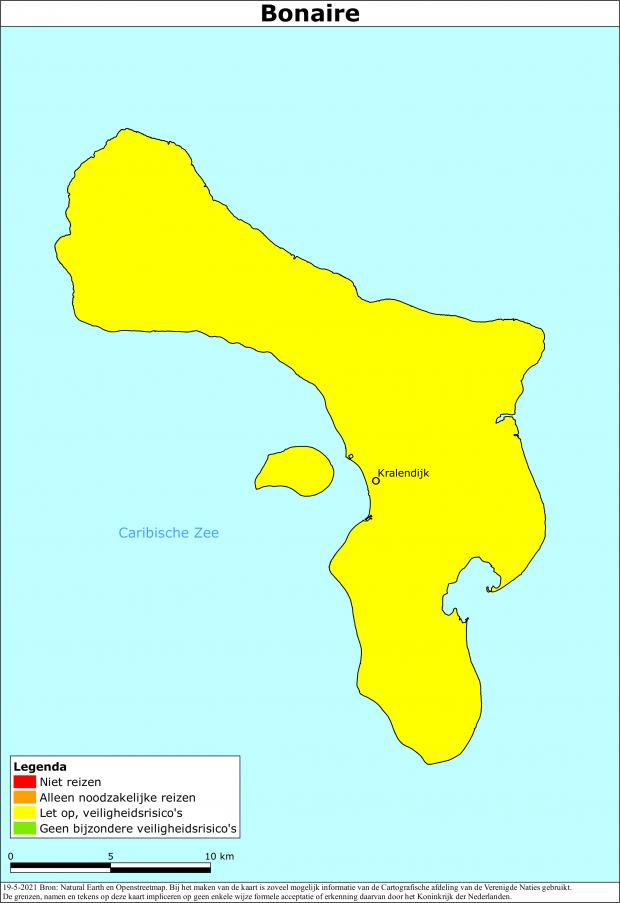 Actueel reisadvies Bonaire