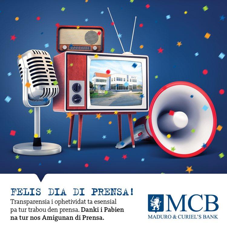 MCB Bank wenst de leden van de pers van Bonaire een 'Felis dia di Prensa'