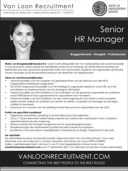 Vacature Senior HR Manager Bonaire