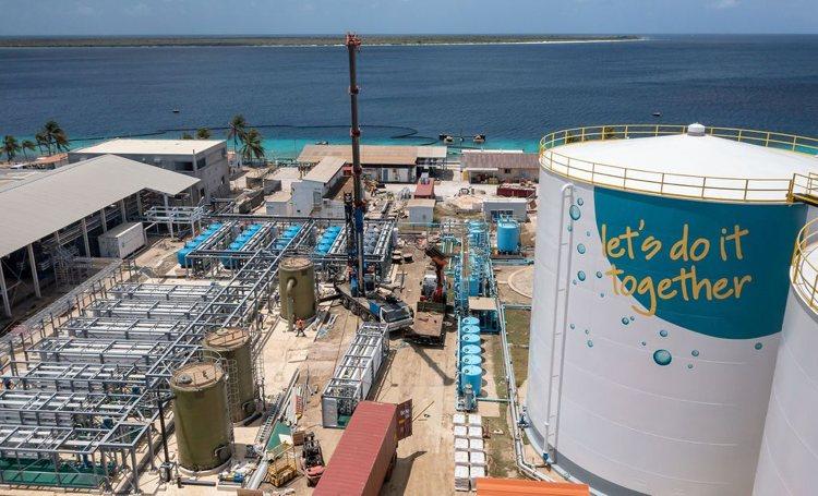 Nieuwe waterplant Bonaire in gebruik